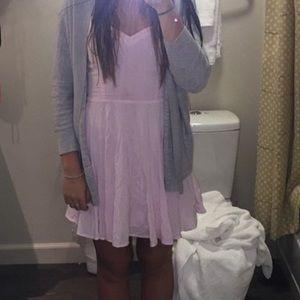 Aritzia light pink lipinski dress